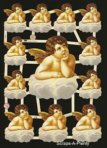 German Victorian Style Scrap Die Cut - WOW Easter / Christmas Angel EF7158b