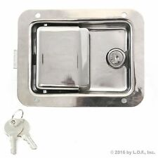 """Toolbox Lock Stainless Door Paddle Handle Trailer RV Latch Key Large 5.5"""" 4.25"""""""