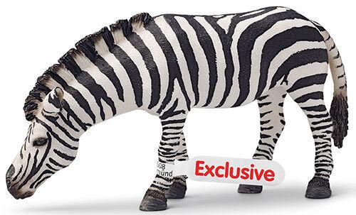 Schleich Tiere 14609 Zebra, grasend Schleichtier Afrika Spielfiguren Rarität NEU
