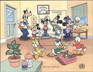 Uganda-1990-Disney-medicos-salud-Mickey-Caricaturas-animacion-1v-m-s-b4165g
