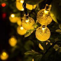 Solar 30led Fairy Bubble Crystal Ball Christmas Lights Garden Path Landscape