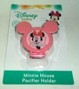 Baby Radient Disney Baby Minnie Maus Schnuller Halter Pink # 3 Nip Jahre Lang StöRungsfreien Service GewäHrleisten