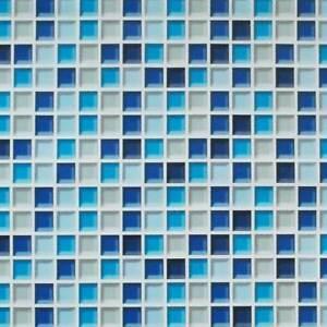 Tapete Selbstklebend Mosaik Fliesen Blau Fliesenspiegel Küchentapete