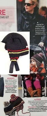 Constructive La Folie Nwot Celebrity Fan Designer Hand Knit Babe In The Woods Gray Hat 0-6m Clothing, Shoes & Accessories