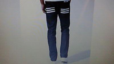 """30"""" Vita - 32""""leg... Adidas Originals Nigo Jeans Blu Grezzo... Jeans. B-n-w-t. Nuovo *-s Originals Nigo Jeans.....raw Blue Denim. B-n-w-t. New* It-it"""