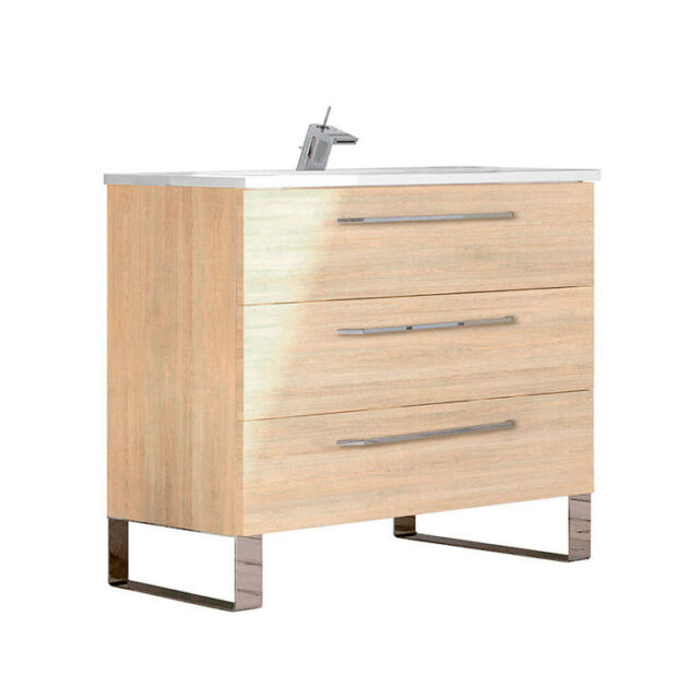 Randalco 32 Inch Modern Bathroom Vanity Cabinet Set Dakota Hawaii Oak Wood