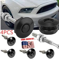 Push Button Quick Release Car Hood Bonnet Latch Pin Lock Bumper Clip 4 Pack