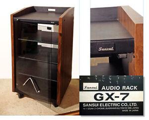 sansui audio rack mit glast r made in japan gx 7 guter zustand aus 1 hand ebay. Black Bedroom Furniture Sets. Home Design Ideas