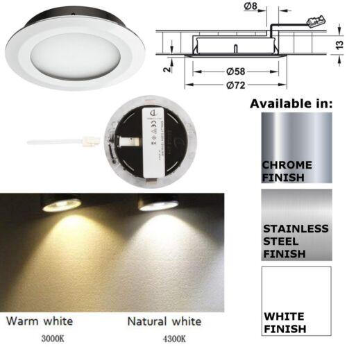 Loox LED Downlight 12V IP20 Compatible Smally Plus Ø72mm /& Round//Angled Bezel