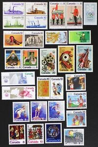 CANADA-Postage-Stamps-1976-Complete-Year-Set-collection-Mint-NH-See-scans