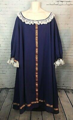 Museum Replicas Limited Red Medieval Renaissance Dress Size L NEW