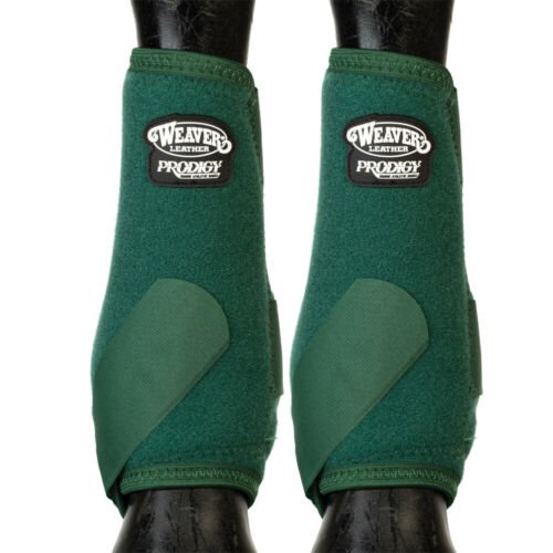C-6-25 Medium Weaver Horse Front Boots Prodigy Athletic 2 Pack Hunter Green