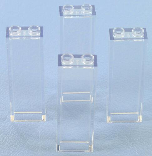 1X2x5 transparent 4 Stück LEGO Säule NEU 46212 2454 klar Glas Fenster