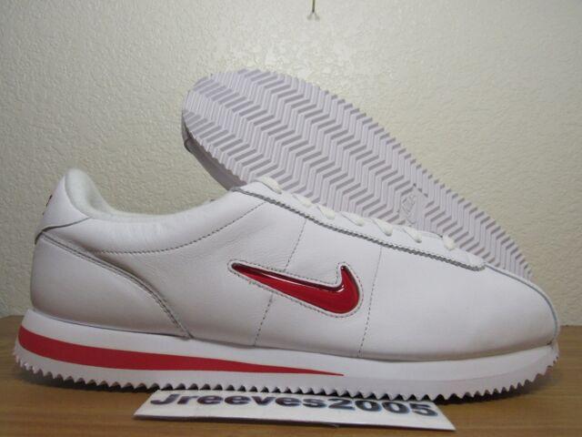 sports shoes b2dc3 cee1f DS Nike Cortez Basic JEWEL QS TZ Sz 11.5 100 Authentic White Red 938343 100