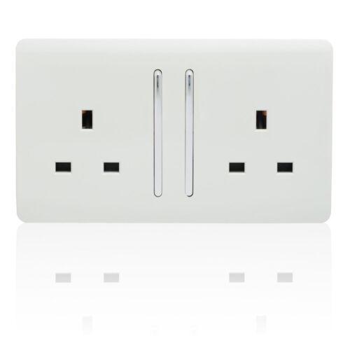 Trendi Switch Modern Glossy Switches//Sockets Garage Trade//Multi Buy Pack White
