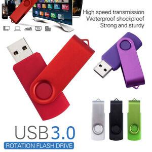 32GB-USB-3-0-Flash-Drive-Swivel-U-Disk-Silver-Black-Green-Red-Purple
