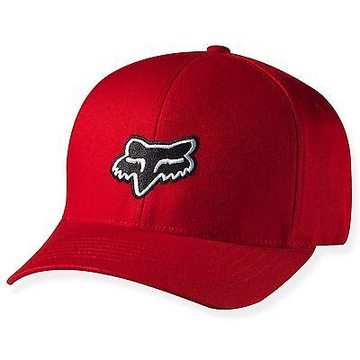 NEW FOX RACING LEGACY FLEXFIT HAT FLEX FIT CAP HAT LID MENS ADULT GUYS RED ROJO