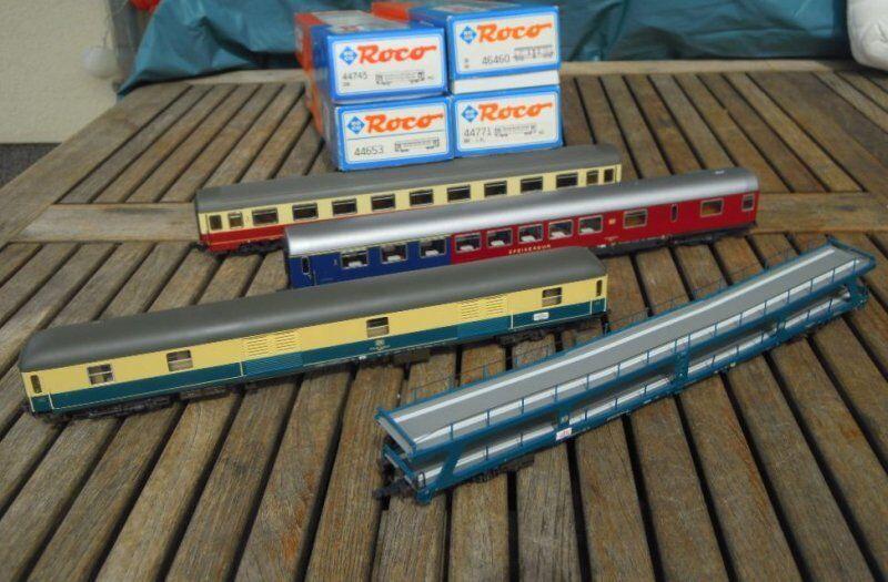 ROCO 46460,44653,44745,44750 Set Set Set vagone treno direttissimo con Kakadu DB ep. e35d23