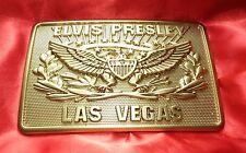 ELVIS METAL LAS VEGAS PLAQUE (BUCKLE) SAYS ELVIS PRESLEY LAS VEGAS 17CM X 11CM