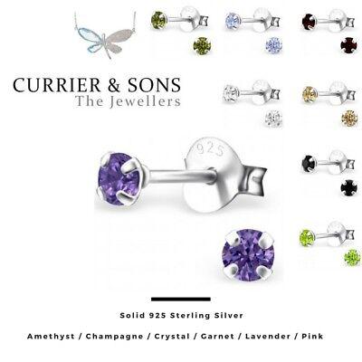 Cubic Zirconia & Sterling Silver Earrings Fine Earrings