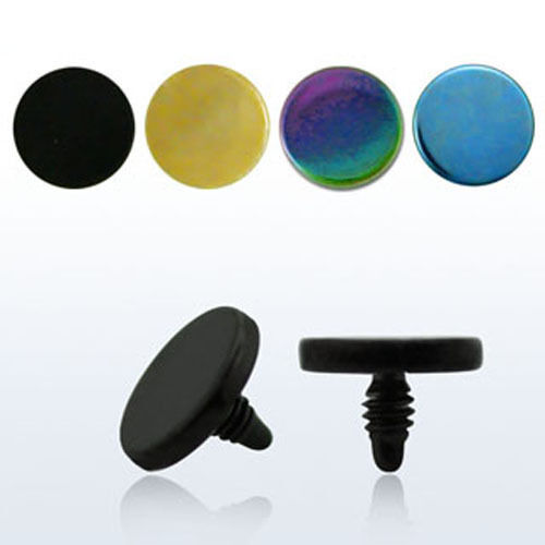 PVD Color Plated Steel Flat Top Rounded Surface Anchor Dermal Screw 3-5mm 1-4PC