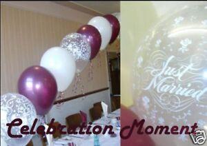 Wedding arch balloon decoration kit f ivory burgundy ebay image is loading wedding arch balloon decoration kit f ivory amp junglespirit Gallery