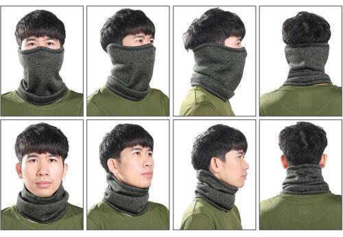 Cold Weather Winter Fleece Knitted Neck Warmer Gaiter Face Mask Bandana Headband