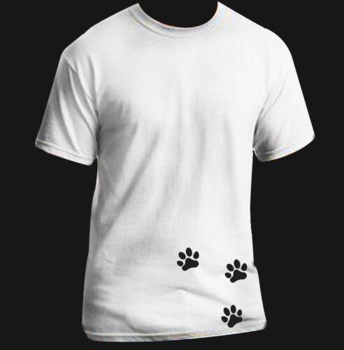 Paw prints Cute Adult Woman T-Shirt Black White S-XL sizes
