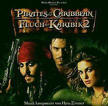 Pirates-of-the-Caribbean-Fluch-der-Karibik-2-von-Hans-Zi-CD-Zustand-gut