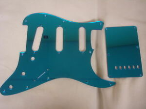 Strat Stratocaster Blue Mirror pickguard set Fender