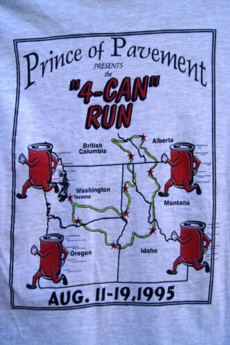 "VINTAGE 1995 T-Shirt Prince of Pavement ""4-CAN RUN"