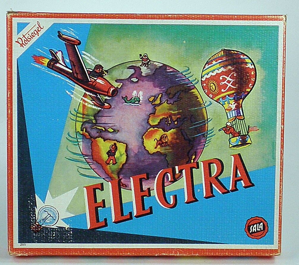 VINTAGE OLD toy Electra Game rossosiegel sala  205 Germany