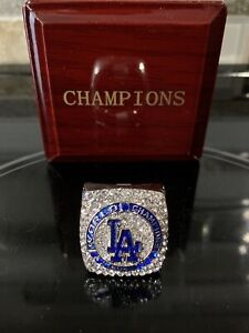 LA Dodgers 2021 World Championship Ring with Wooden Champions Box Size 8
