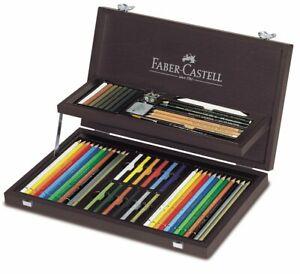 Faber-Castell-Valigetta-Legno-Pastelli-Compendium-54pz-110088