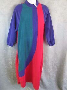 Vintage 70 S Vanity Fair Velour Robe Size Small Zip Front