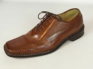 Men s STACY ADAMS Fancy Brown Leather Oxford Dress Shoes 13M ... d0783bfee0be