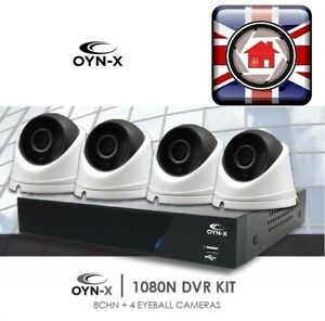 OYN-X KIT 8 Channel 4 x 1080p HD indoor//outdoor Cameras 1TB HDD CCTV KIT