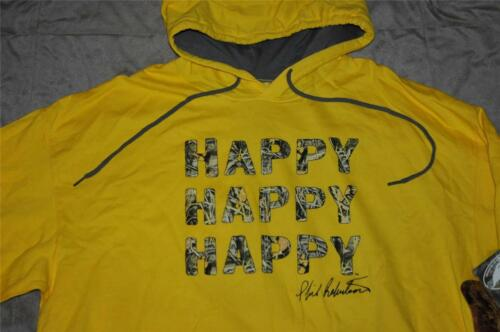 Duck Dynasty Duck Commander Realtree Max-4 Happy Mens Pullover Hoodie Yellow NWT