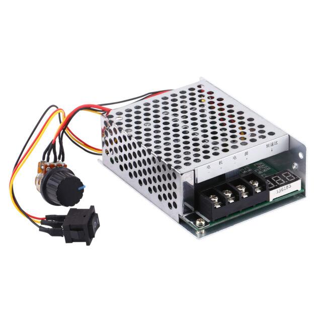 40A DC 12v 24v 48v Variable Speed Motor Controller Reversible Control + LED gdel