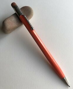 Vintage-Scripto-Mechanical-Pencil-Orange-1950s-Era-Classic-EDC-Working-USA