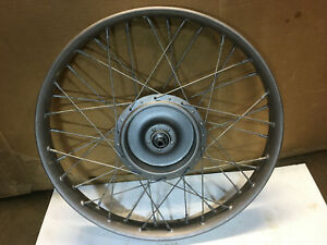 Harley-Davidson-OEM-Front-Wheel-1929-DL-45-Flathead-B-C-Single-Pup-Peashooter