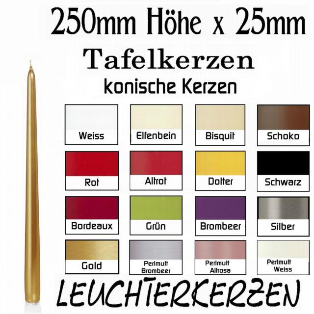 50er Pack Leuchtkerzen Eika Kerzen Spitzkerzen Mais 24,5 x 2,4 cm