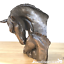 thumbnail 1 - David-Geenty-Bronze-Mare-amp-Foal-Heads-sculpture-ornament-Horse-Pony-lover-gift