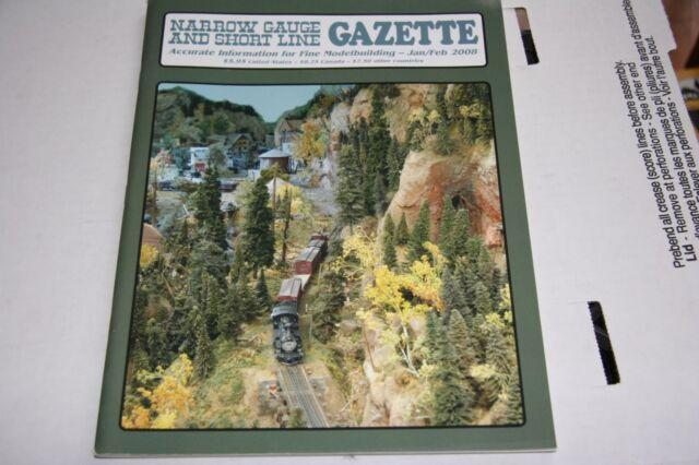 NARROW GAUGE & SHORT LINE GAZETTE ISSUE 1/2 2008 EXCELLENT