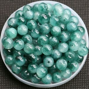 6mm-8mm-10mm-Natural-Jadeite-Green-Jade-Round-Gemstone-Loose-Beads-15-039-039-AAA