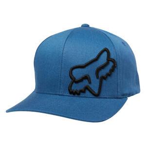 Fox-Head-Racing-034-Flex-45-034-FlexFit-Hat-Dust-Blue-Men-039-s-Precurved-Stretch-Cap