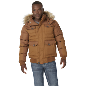 Rocawear-Men-s-Hooded-Bubble-Parka-Wheat-M-NJG17-514