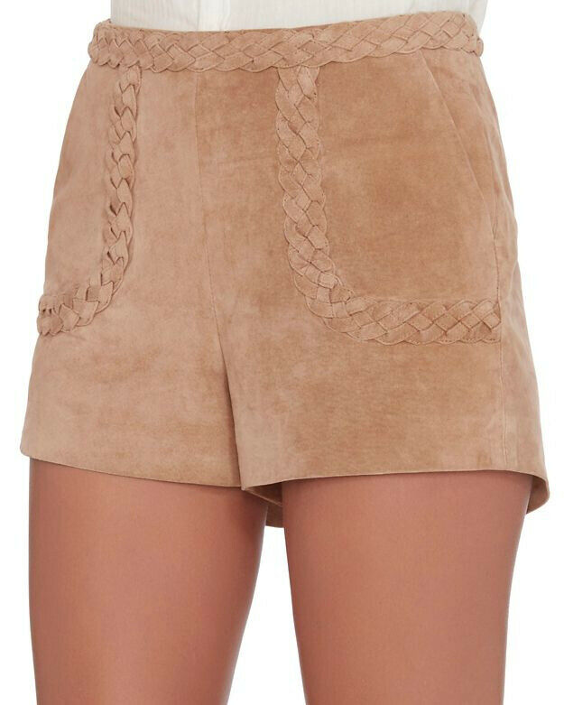 Intermix Julius Braided Detail Suede Shorts MSRP  328 Size L D 214 NEW