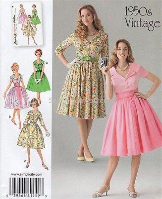 Simplicity 1459 SEWING PATTERN 8-16 Retro/Vintage 50s Dress Belt Rockabilly