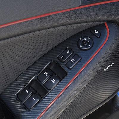 RED 5M FLEXIBLE TRIM FOR CAR INTERIOR EXTERIOR MOULDING STRIP DECORATIVE LINE P5